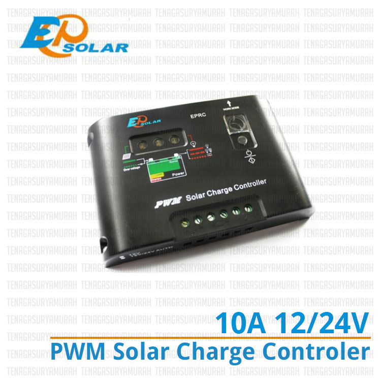 EPRC10-EC, solar charge controller, controller solar cell, controller panel surya, controller 10a