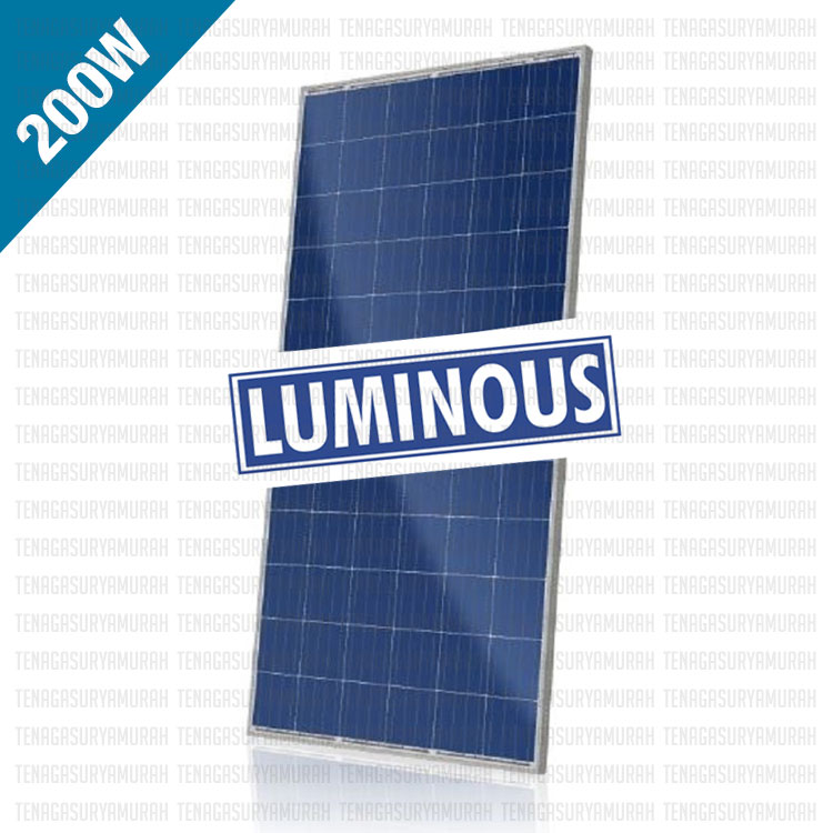 Jual Panel Surya Murah 200 WP LUMINOUS Polycrystalline, Jual Panel Surya Murah 200